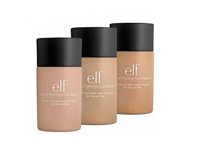 E.L.F. Studio Acne Fighting Foundation choose shade NIB ELF Ivory Porcelain more