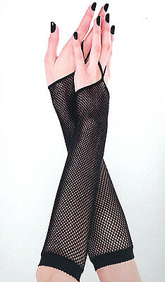 Music Legs 430 Gloves Elbow Fishnet Fingerless Thong Arm Warmers One Size Black