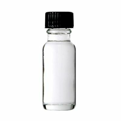 15ml Boston Round Clear Glass Bottles With Black Cone Cap