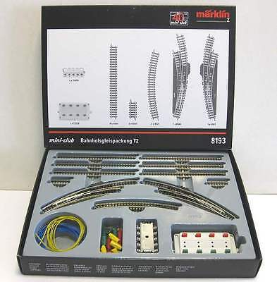 8193 Marklin Z TRACK EXTENSION SET T2 with electric turnout - NEW