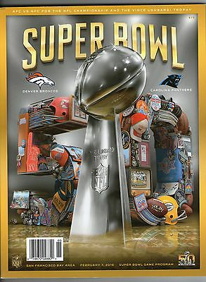 NFL Super Bowl XLIX (2016) Official Game Day Program Denver Broncos v Panthers