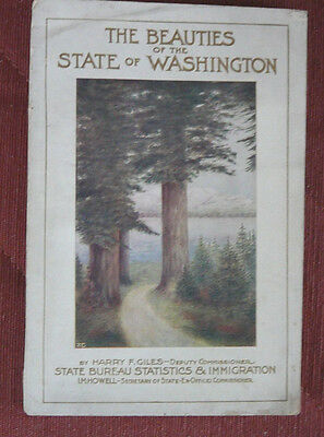 1916 book about Washington State - many color illustrations