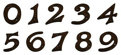 Door Numbers 4 Inch 100mm Black Antique Cast Iron House Numerals - UK Quality
