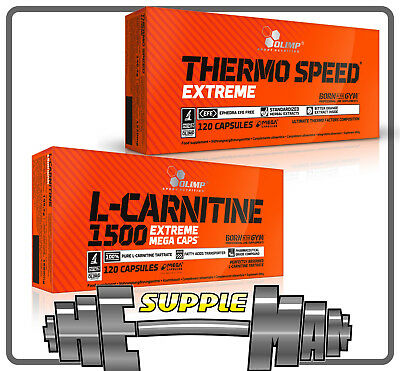 Olimp L-Carnitine 1500 + Thermo Speed Extreme  Fat Burner Weight Loss Combo
