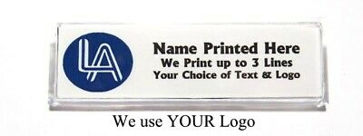 Logo Custom Name Tag Badge ID Pin Magnet for Business Employees Professionals