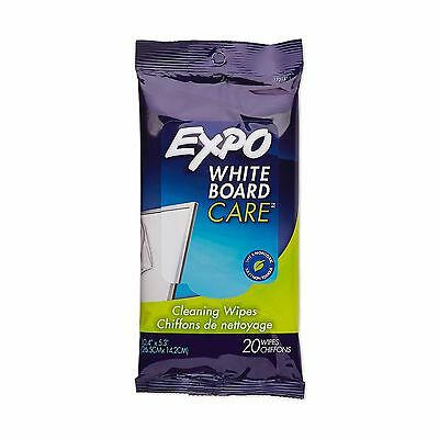 EXPO Cleaner Whiteboard Non-Toxic White Board Cleaner Wipes 1 Pack of 20 Wipe...
