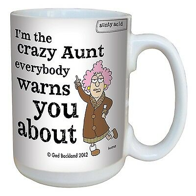 Tree-Free Greetings lm43763 Hilarious Aunty Acid Crazy Aunt by The Backland S...