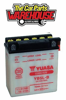 YB5L-B Genuine Yuasa Motorcycle ATV Quad Buggy Battery FREE POST With Acid Pack