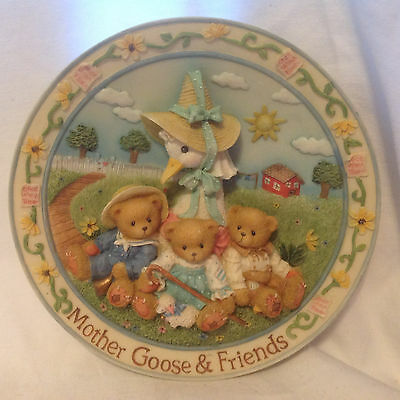 Cherished Teddies Mother Goose And Friends Happily Ever After Sculpted Plate
