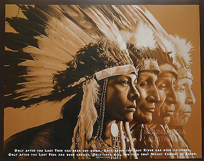 NATIVE WISDOM POSTER (50x40cm) AMERICAN INDIANS NEW LICENSED ART