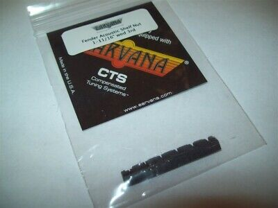 """NEW - Earvana Compensated 1-11/16"""" Nut For Fender Acoustic, Wound 3rd, BLACK"""