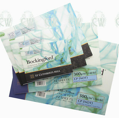 Bockingford Watercolour Gummed Pads. Artists Paper Watercolour Painting.