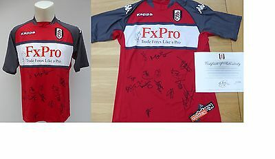 2010-11 Fulham Away Shirt Signed by 14 with Official COA (7037)
