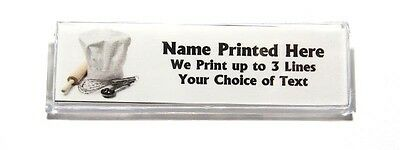 Bakers Hat Custom Name Tag Badge ID Pin Magnet for Baker Bakery Pastry Chef