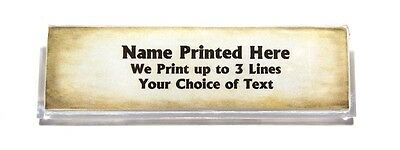 Parchment Look Custom Name Tag Badge ID Pin Magnet for Professionals Teachers