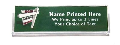 Sold Sign Custom Name Tag Badge ID Pin Magnet for Real Estate Agents Home Sales
