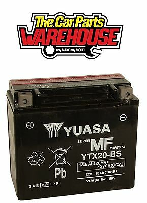 YTX20-BS Genuine Yuasa Motorcycle ATV Quad Buggy Battery xX With Acid Pack Xx