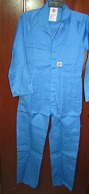 (Pack of 2 ) King Gee Work Coverall Overall Sky Blue Poly/Cotton Aussie Made