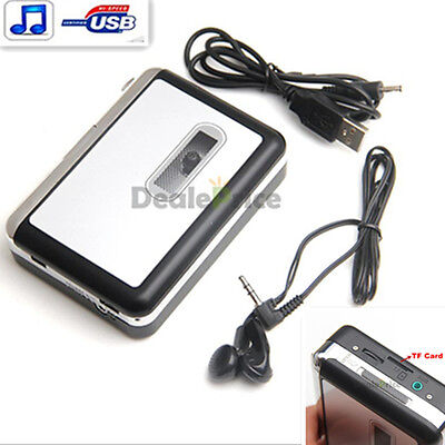 NEW Micro SD TF Card USB Cassette-to-MP3 Converter Capture Audio Music Player US