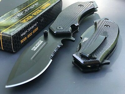 TAC FORCE LARGE TACTICAL Spring Assisted Drop Point Pocket Knife LIMITED EDITION