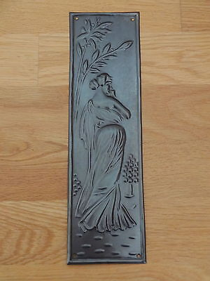 Bronze Finish Art Nouveau Finger Door Push Plate Fingerplate