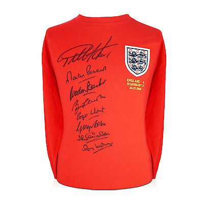 England World Cup Shirt Team Signed Red Football Autographed Sport Memorabilia