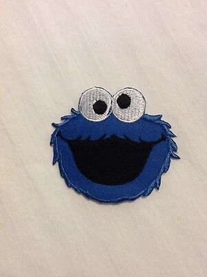 Cookie Monster Sesame Street Logo Hat Shirt Jacket Embroidered Iron On Patch
