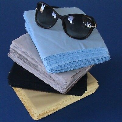 Premium 100pcs MICROFIBER Eyeglasses Cleaning Cloth 18cmx15cm US Seller