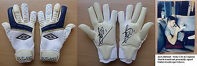 Jack Butland Signed and Match Issued Gloves - Stoke City & England (7422)