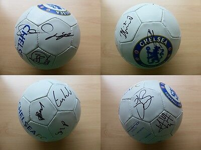 2007-08 Chelsea Squad Signed Football Inc. LAMPARD & TERRY (7109)