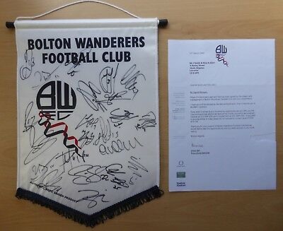 2008-09 Bolton Pennant Squad Signed with letter from club (1046)