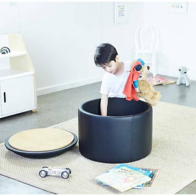 New Kids Childrens Toddler Black Toy Storage Chest Box Activity Table Chair