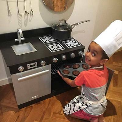 New Kids Childrens Toddler Gourmet Toy Pretend Play Kitchen Stove Kitchens Oven