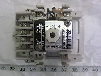 GE General Electric CR360ML204AG 204AA 4P 120V Coil Lighting Contactor, Used