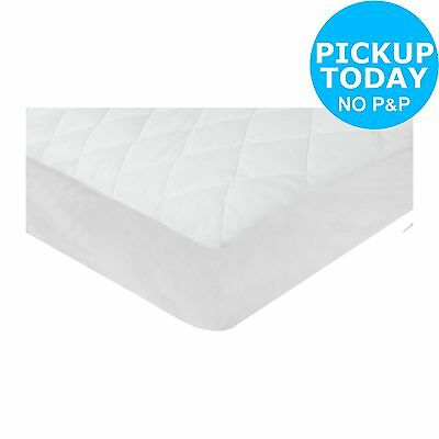 Silentnight Quilted Waterproof Cot Bed Mattress Protector - White -From Argos
