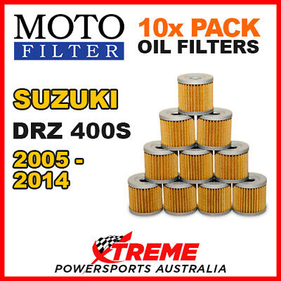 10 Pack Moto Mx Oil Filters Suzuki Drz400S Drz 400S Dr Z400S 2005-2014 Dirt Bike