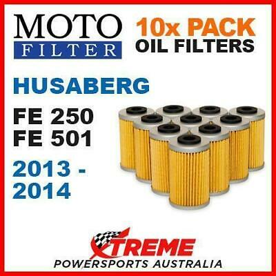 10 Pack Moto Mx Oil Filters Husaberg Fe250 Fe501 Fe 250 501 2013-2014 Enduro