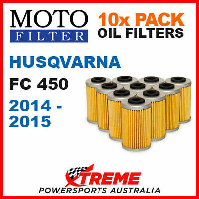 10 Pack Moto Mx Oil Filters Husqvarna Fc450 Fc 450 2014-2015 Motocross Dirt Bike