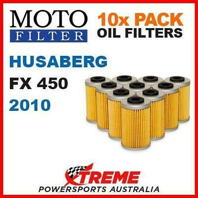 10 Pack Moto Mx Oil Filters Husaberg Fx 450 Fx450 2010 Off Road Dirt Bike