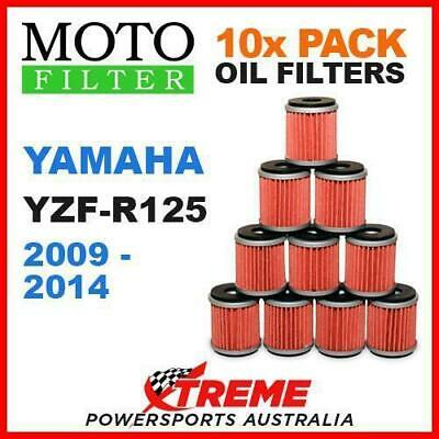 10 Pack Moto Mx Oil Filters Yamaha Yzfr125 Yzf R125 2009-2014 Road Super Bike