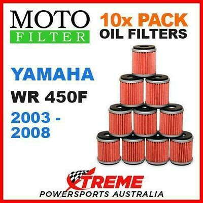 10 Pack Moto Mx Oil Filters Yamaha Wr450F Wr 450F Wrf450 2003-2008 Enduro Bike
