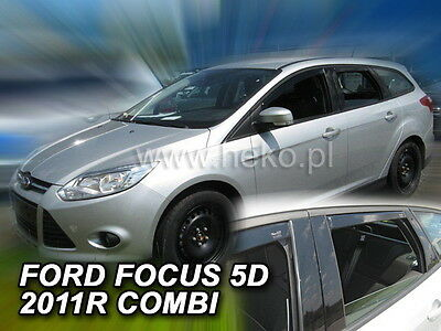 FORD Focus III 5D from 2011 ESTATE Wind Deflector HEKO FRONT+REAR 4 pcs