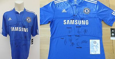 2009-10 Chelsea Home Shirt Signed by 13 Official COA (7125)
