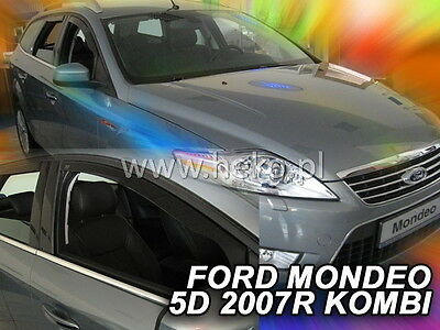 FORD MONDEO 5d 2007-2014 ESTATE Wind Deflector HEKO FRONT+REAR 4 pcs