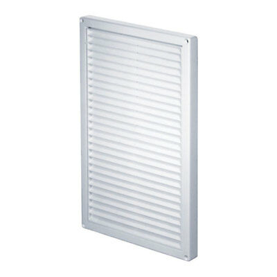 Air Vent Grille 220mm x 340mm with Shutter Fly Screen Wall Ventilation Cover T85
