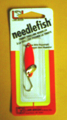 Luhr Jensen Needlefish 1051-000-0594 Sz 0 Red Magic//Fish Scale with Flipper Tail