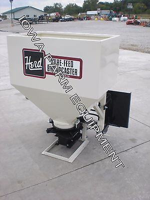 Herd 750 9.6 Bu Skid Steer Quick Attach Broadcast Seeder & Fertilizer Spreader