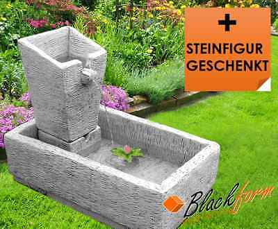 wasserfall element springbrunnen garten wassersturz 50x35x15cm led beleuchtung eur 279 90. Black Bedroom Furniture Sets. Home Design Ideas