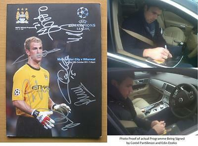 Man City v Villarreal Multi Signed CL programme with exact proof (1034)