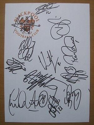 2009-10 Blackpool Sheet Signed by Promotion Team (1463)